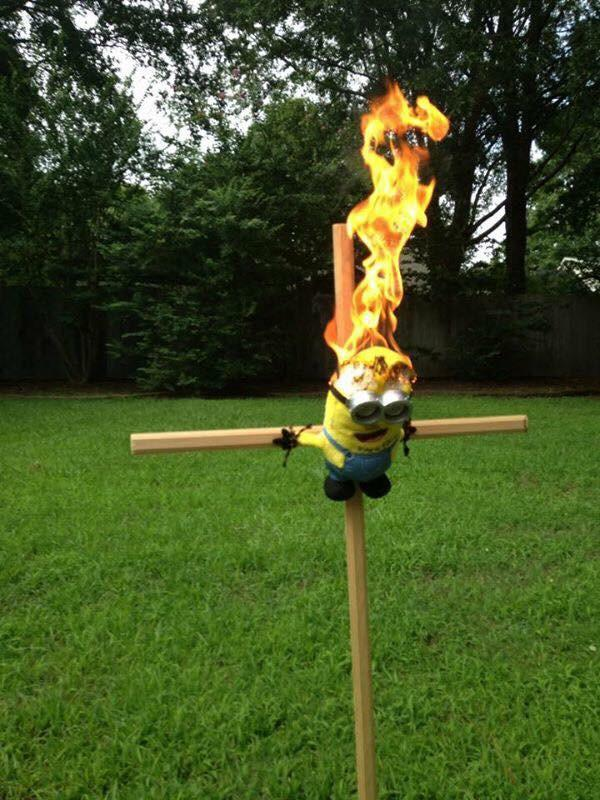 minion crucified